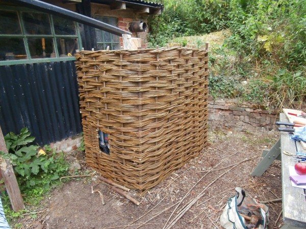 Willow fence for Gestingthorpe History Society