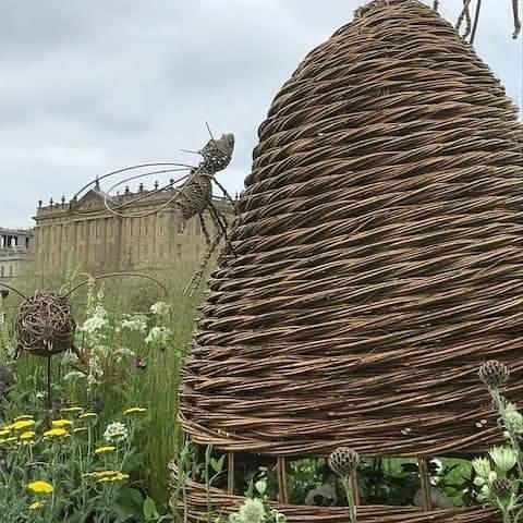 willow, Essex weaver, Deb Hart, Bee Skep, Louissa van den Berg, RHS show, Chatsworth House, garden design, gold medal, plants for bees.
