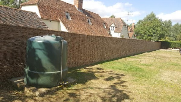 woven fence Kelvedon woven with the help of the client. 2016