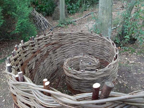 fence, Essex,Weaving, Little Baddow. spiral,