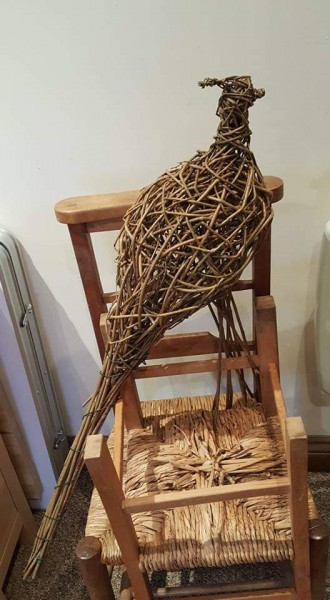 pheasants,garden structures, willow,birds,weaving,christmas presents,gifts