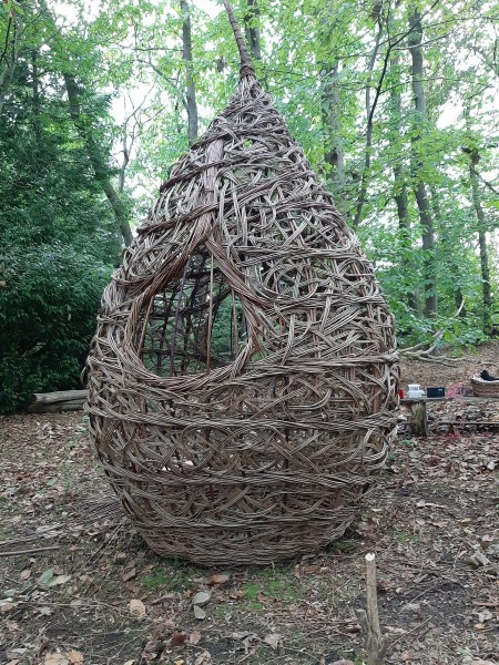 contempory, sustainable sculpture,essex weaver, fig, magnolia bud, Eastern promise