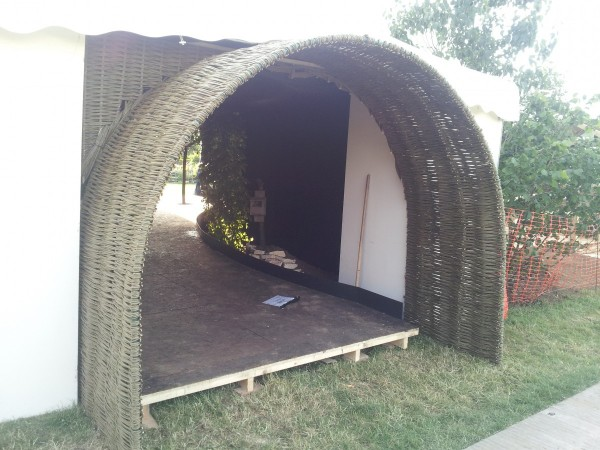 willow arch at Hampton Court Flower Show 2014