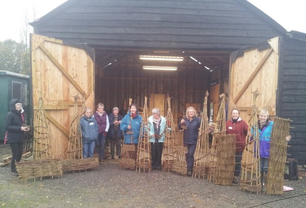 willow garden structures workshop at Ashmans Farm, Kelvedon Essex