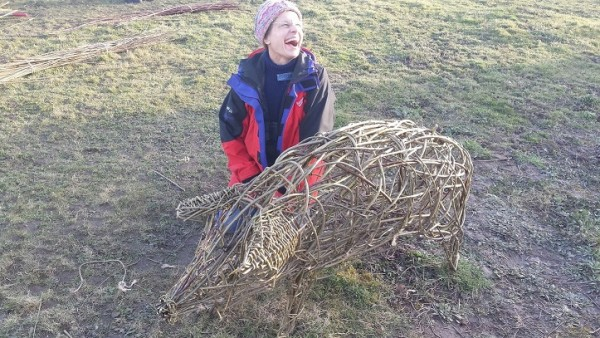 willowpig sculpture workshop at Ashmans farm Kelvedon Essex