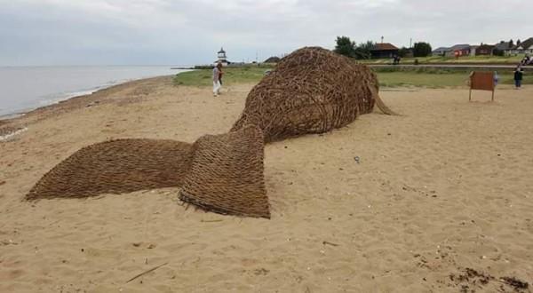 whale, Harwich, Beach, arts trail, funding, Essex, Deb Hart,