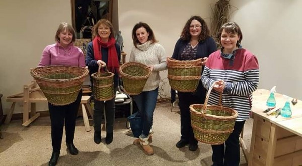 willow weaving, Essex, Deb Hart, Beginners baskets, bird house,